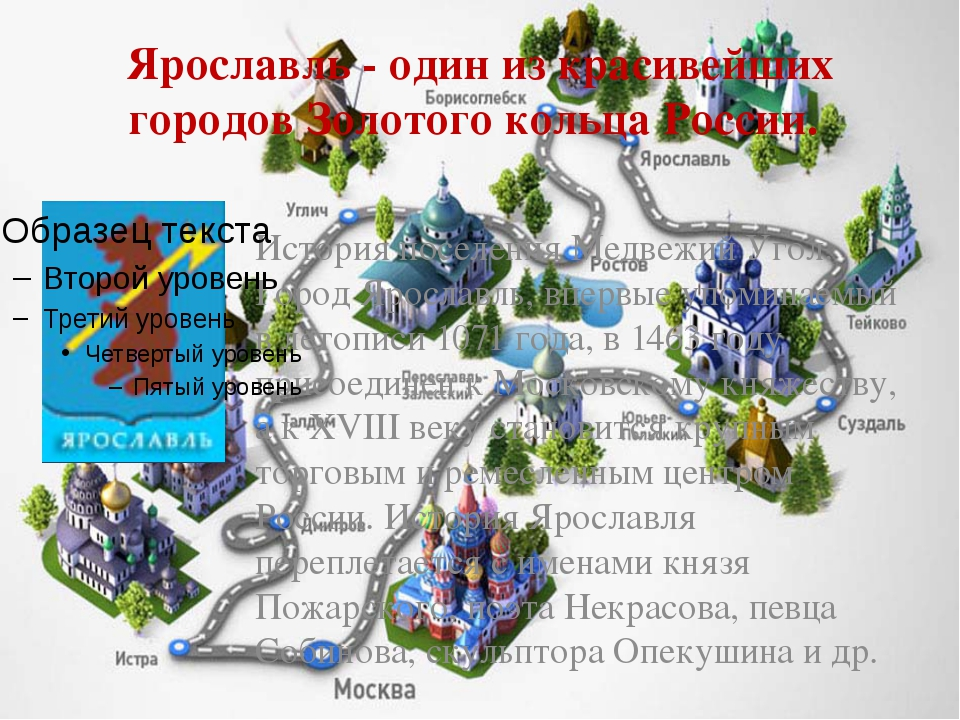 Ярославль - один из красивейших городов Золотого кольца России. История посел...