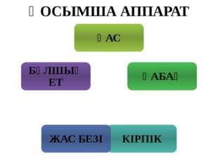 ҚОСЫМША АППАРАТ