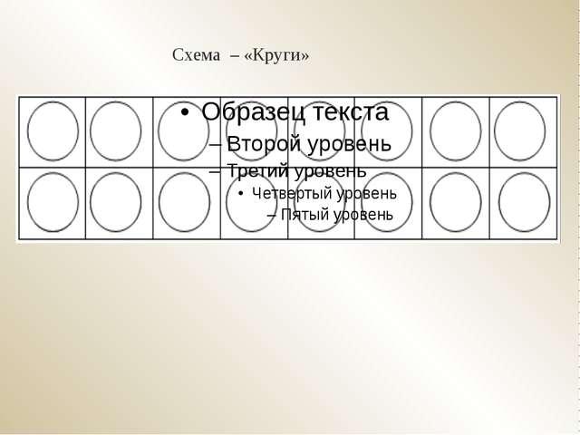 Схема – «Круги»