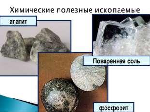 апатит фосфорит Поваренная соль