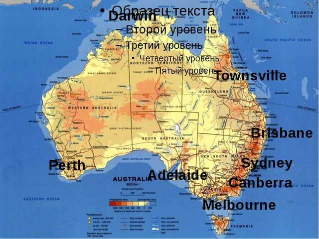 Darwin Townsville Brisbane Canberra Sydney Melbourne Adelaide Perth