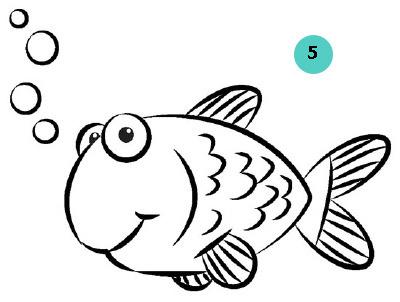 Как нарисовать рыбку карандашом поэтапно?