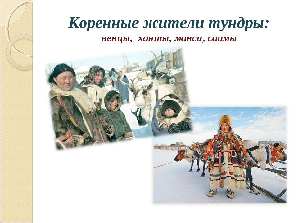 Коренные жители тундры: ненцы, ханты, манси, саамы