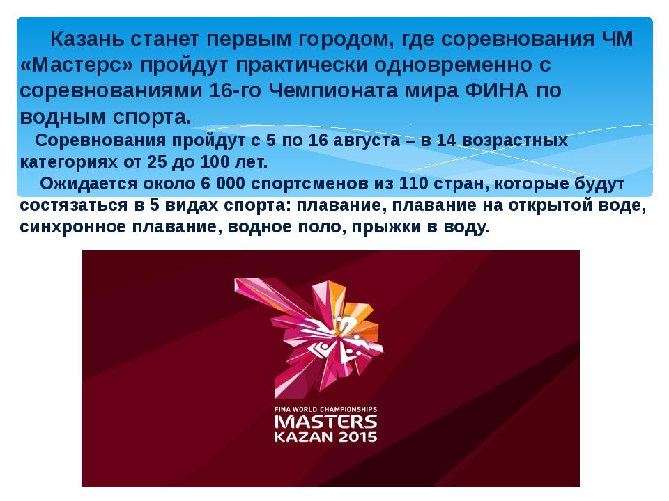 Казань станет первым городом, где соревнования ЧМ «Мастерс» пройдут практиче...