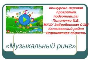 Конкурсно-игровая программа подготовила: Пилипенко И.В. МКОУ Заброденская СОШ