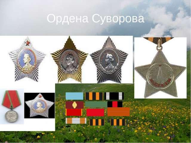 Ордена Суворова