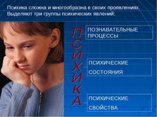 ПОЗНАВАТЕЛЬНЫЕ ПРОЦЕССЫ ПСИХИЧЕСКИЕ СОСТОЯНИЯ ПСИХИЧЕСКИЕ СВОЙСТВА Психика сл