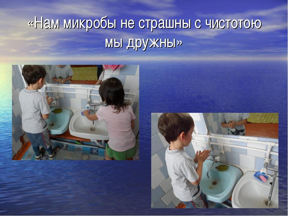 «Нам микробы не страшны с чистотою мы дружны»