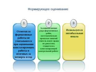 Формирующее оценивание За невыполнение ряда формативных работ, систематически