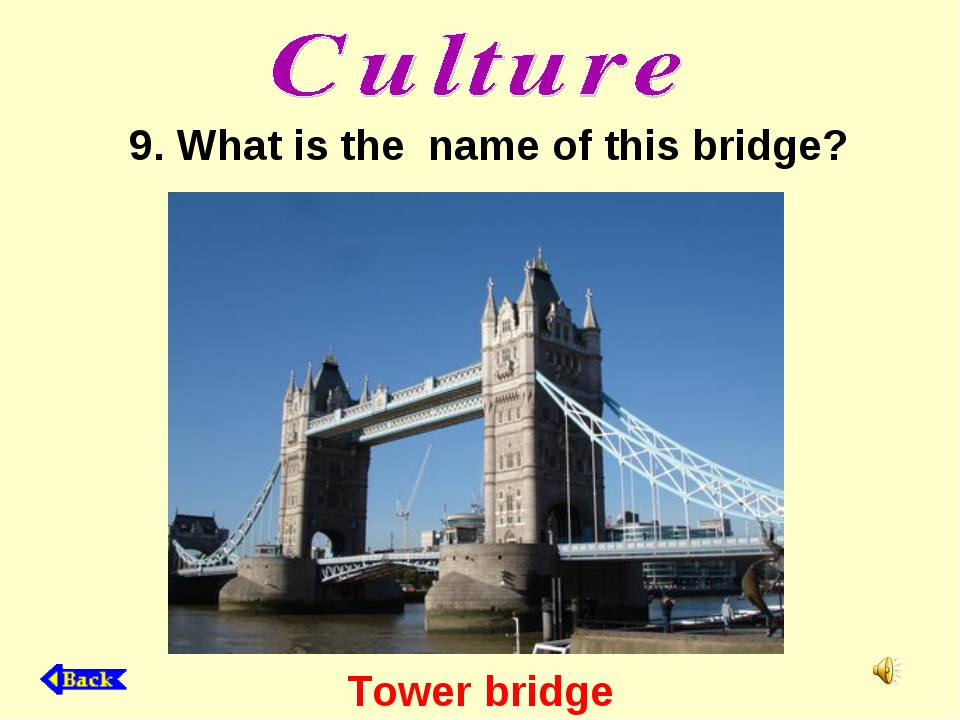 Tower bridge 9. What is the name of this bridge?