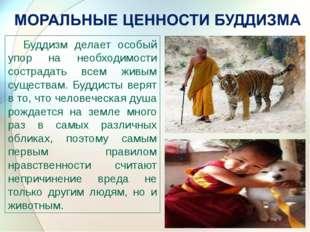 Буддизм делает особый упор на необходимости сострадать всем живым существам.