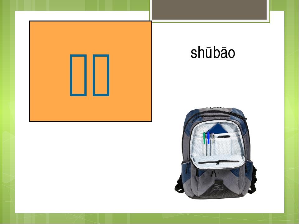 портфель 书包 shūbāo