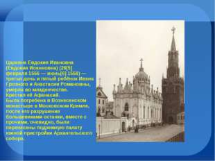 Царевна Евдокия Ивановна (Евдокия Иоанновна) (26[5] февраля 1556 — июнь[6] 15