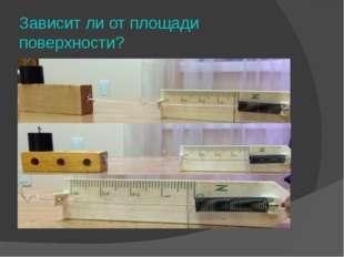 Зависит ли от площади поверхности?