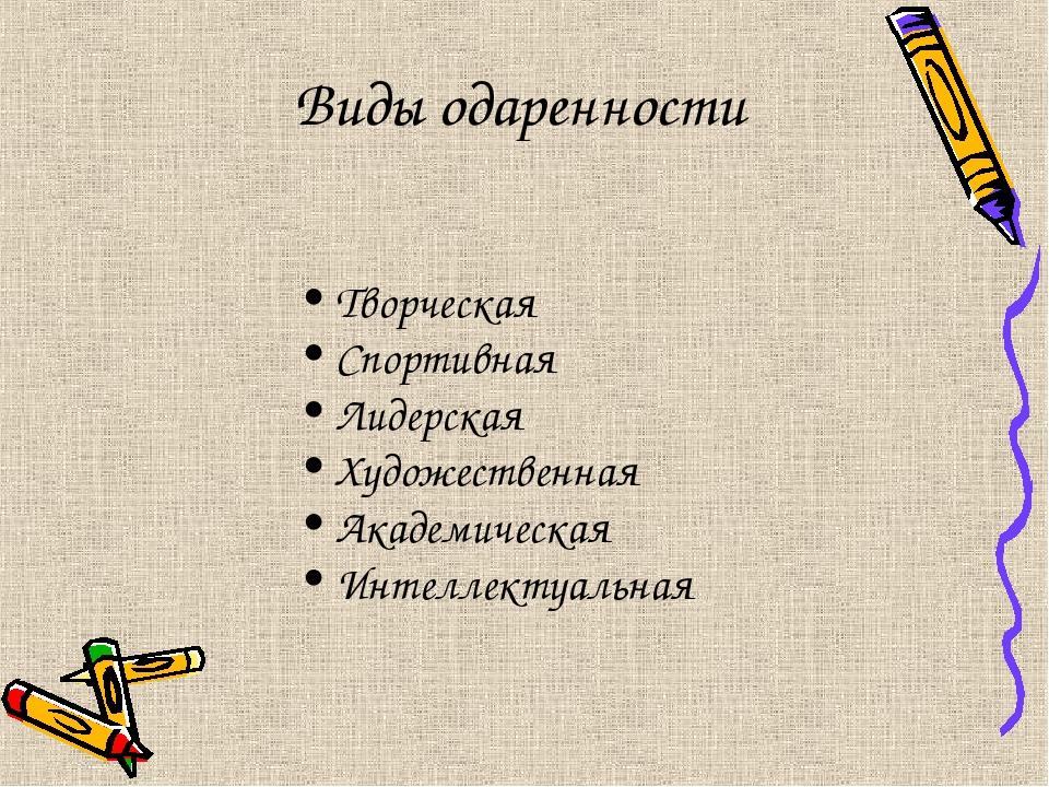 Творческая Спортивная Лидерская Художественная Академическая Интеллектуальн...