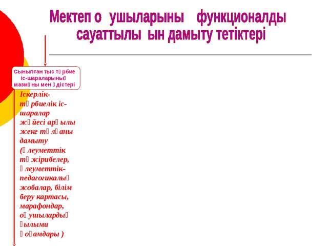 Іскерлік-тәрбиелік іс-шаралар жүйесі арқылы жеке тұлғаны дамыту (әлеуметтік т...