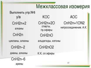 физические свойства изомеров углеродного скелета и изомеров положения различн