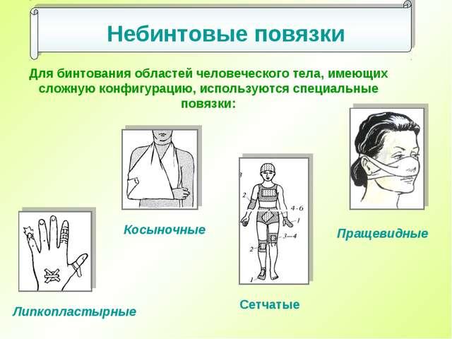 Для бинтования областей человеческого тела, имеющих сложную конфигурацию, исп...