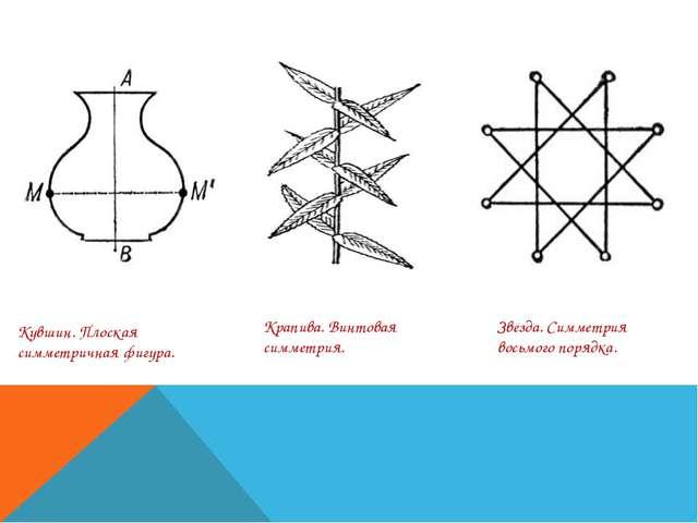 Кувшин. Плоская симметричная фигура. Крапива. Винтовая симметрия. Звезда. Сим...