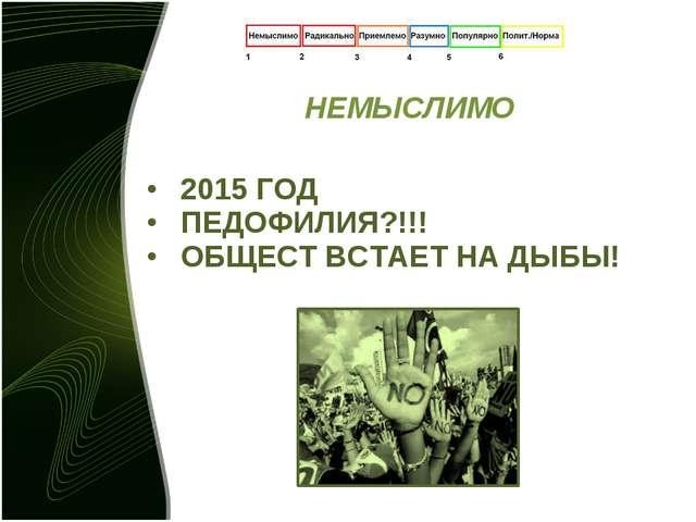 НЕМЫСЛИМО 2015 ГОД ПЕДОФИЛИЯ?!!! ОБЩЕСТ ВСТАЕТ НА ДЫБЫ!