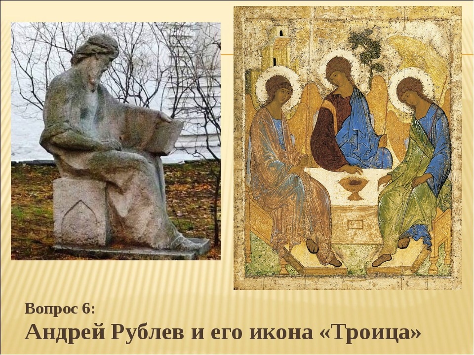 Вопрос 6: Андрей Рублев и его икона «Троица»