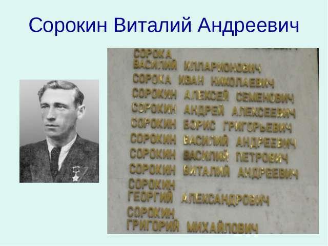 Сорокин Виталий Андреевич