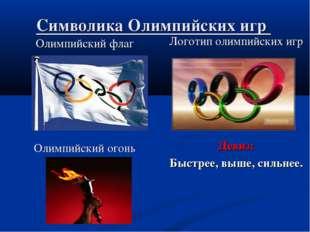 Символика Олимпийских игр Олимпийский флаг Олимпийский огонь Логотип олимпийс