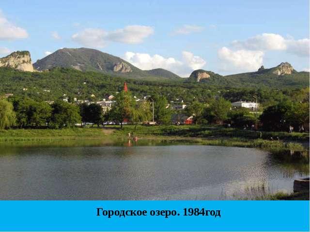 Городское озеро. 1984год