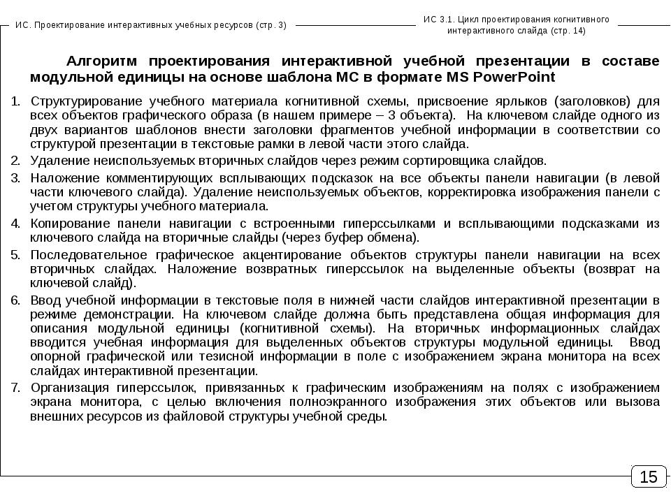 ИС. Проектирование интерактивных учебных ресурсов (стр. 3) ИС 3.1. Цикл проек...