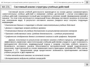 Системный анализ структуры учебных действий 09 МА 231 09 Системный анализ уче