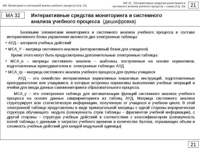 Интерактивные средства мониторинга и системного анализа учебного процесса (де...