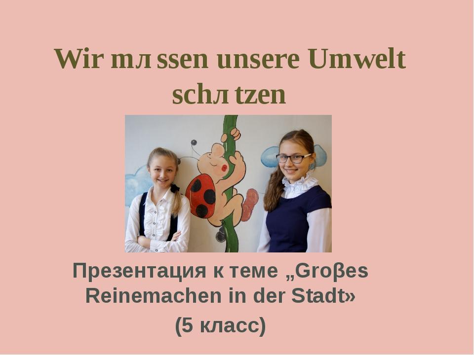 """Wir mȕssen unsere Umwelt schȕtzen Презентация к теме """"Groβes Reinemachen in d..."""