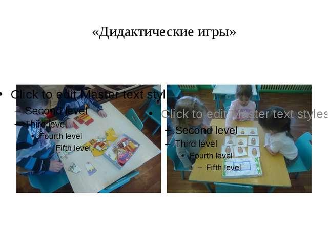 «Дидактические игры»