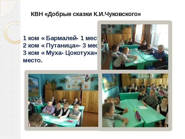 КВН «Добрые сказки К.И.Чуковского» 1 ком « Бармалей- 1 место 2 ком « Путаница...