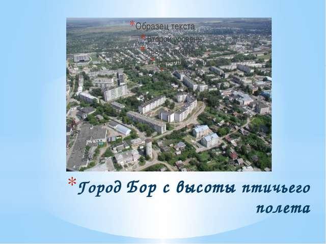 Город Бор с высоты птичьего полета