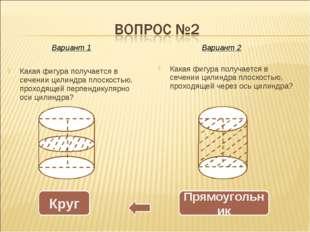 Какая фигура получается в сечении цилиндра плоскостью, проходящей перпендикул