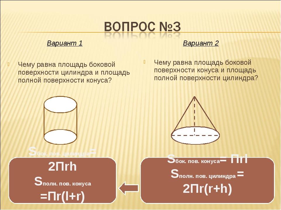 Чему равна площадь боковой поверхности цилиндра и площадь полной поверхности...