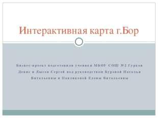 Бизнес-проект подготовили ученики МБОУ СОШ №2 Гурков Денис и Лысов Сергей под