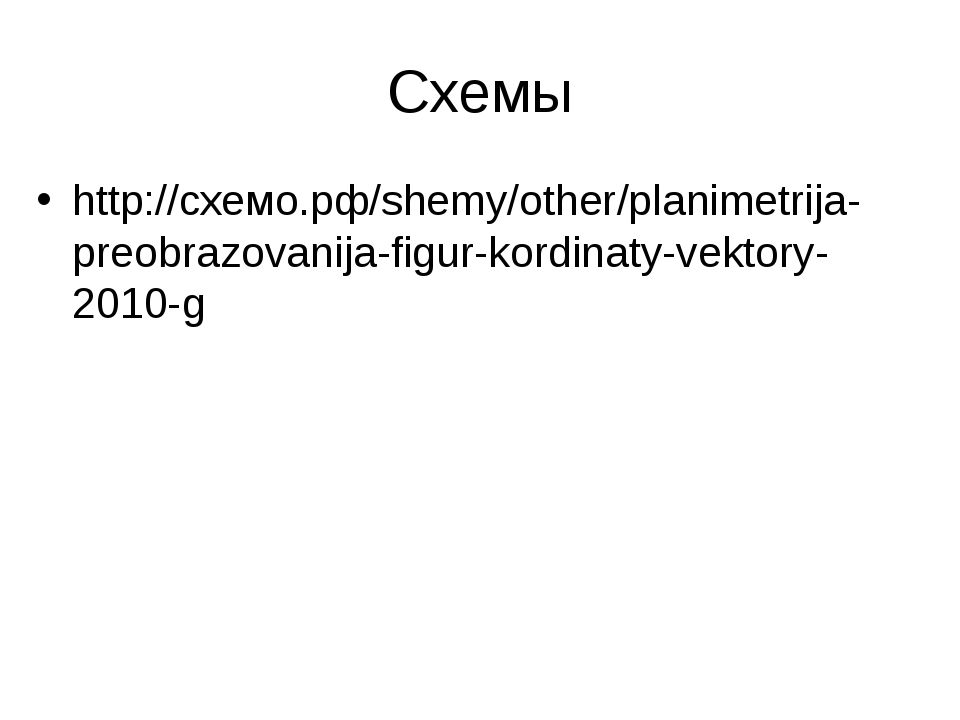 Схемы http://схемо.рф/shemy/other/planimetrija-preobrazovanija-figur-kordinat...