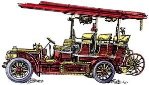 Пожарные ''автолинейки'' появились в Москве в 1907 году