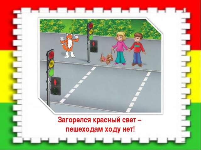Загорелся красный свет – пешеходам ходу нет!