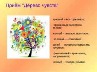"""Приём """"Дерево чувств"""" красный – восторженное; оранжевый-радостное, теплое; же"""