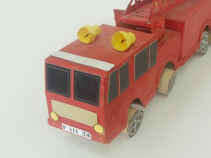 Чертеж пожарной машины
