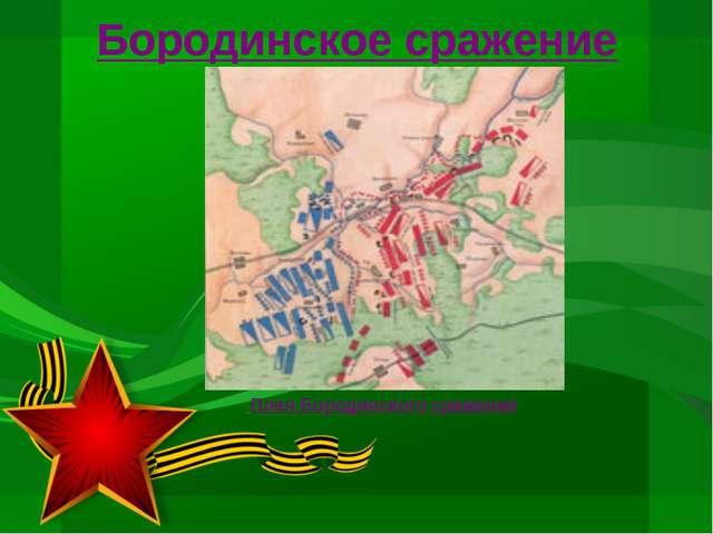 Бородинское сражение План Бородинского сражения