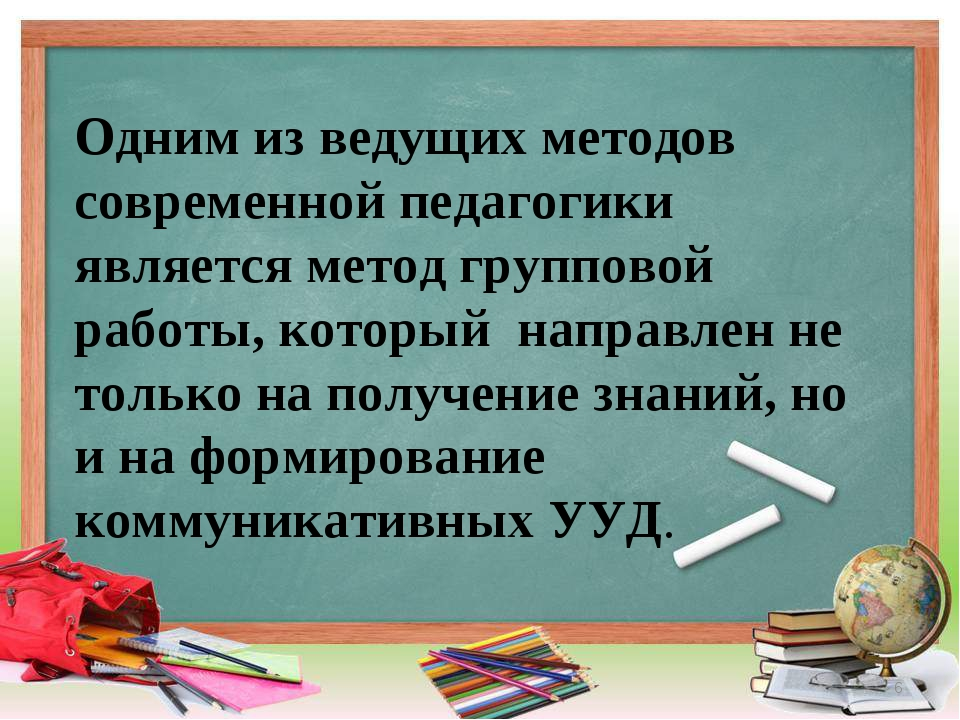 * Одним из ведущих методов современной педагогики является метод групповой ра...