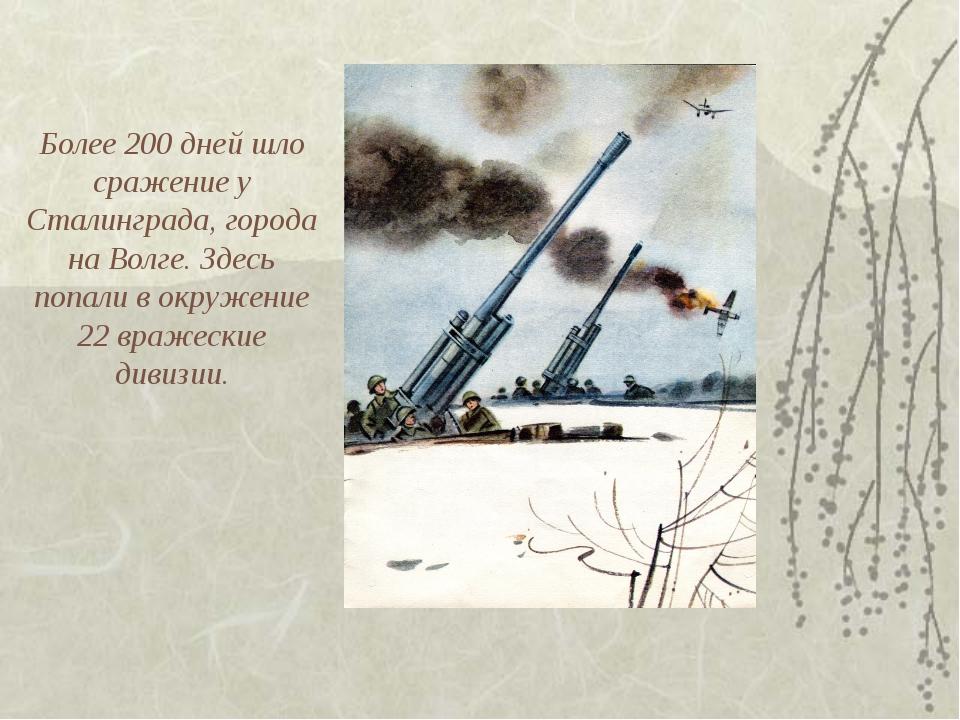 Более 200 дней шло сражение у Сталинграда, города на Волге. Здесь попали в ок...