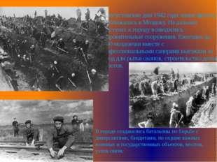 В августовские дни 1942 года линия фронта приближалась к Моздоку. На дальних