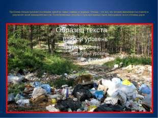 Проблема отходов признается учеными одной из самых главных и трудных. Отходы