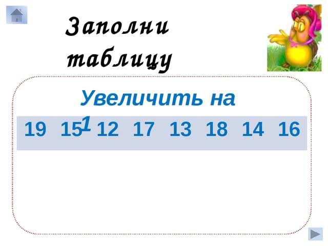 Заполни таблицу Уменьшить на 10 14 20 13 18 19 11 16 14 4 10 3 8 9 1 6 4