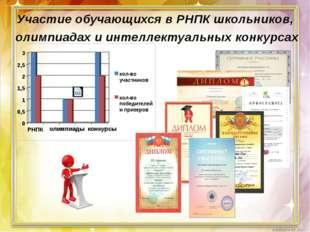 Участие обучающихся в РНПК школьников, олимпиадах и интеллектуальных конкурса